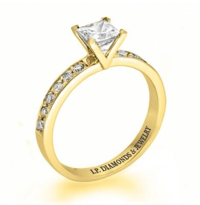 טבעות אירוסין מעוצבות - איי פי יהלומים